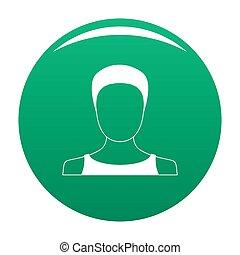 Man user icon green