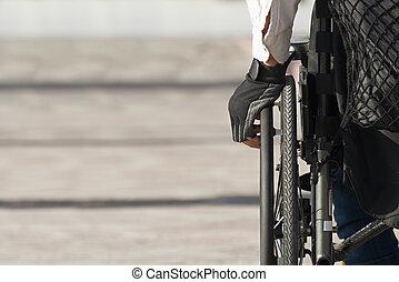 Man using a wheelchair