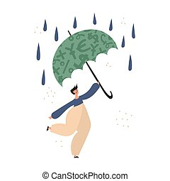 Man using insurance and emergency fund illustration