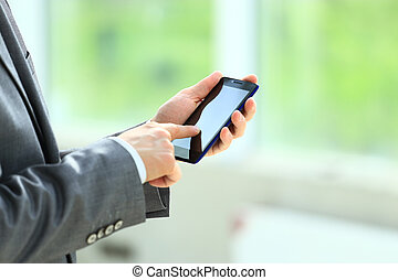 man using mobile phone