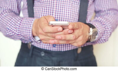 Man using smartphone - Man with smartphone