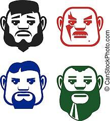 Man vector faces