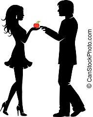 man, verboden fruit, vrouw