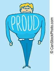 Man very proud of himself - Cartoon illustration of a proud...