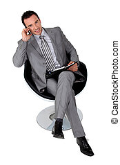 Man waiting for a business meeting