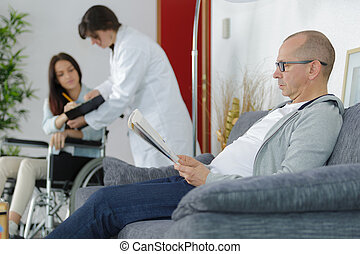 man waits for the doctor