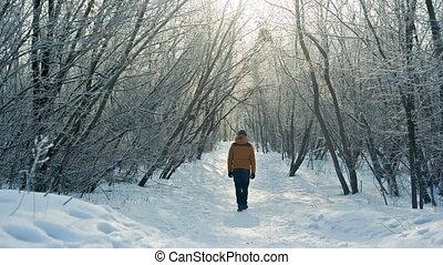Man Walking Away and dissapear