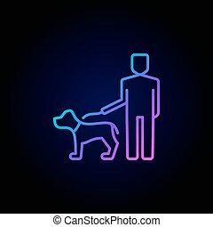 Man walking with a dog icon