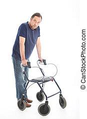Man walking with a medical walker
