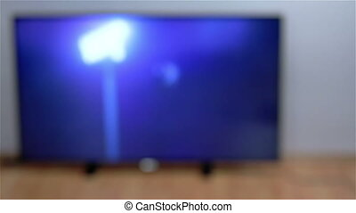 Man watching smart tv