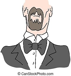 Man wearing a bow tie