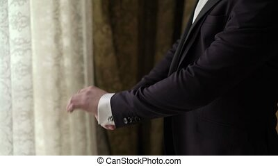 Man wearing classical jacket - Man wearing classical black...