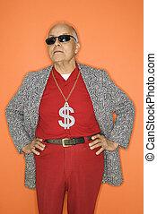 Man wearing money sign.