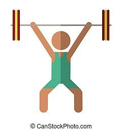 man weight lifter sport athlete