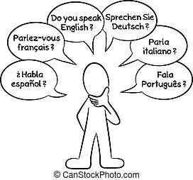 man who wants to know what languages you speak - vector...