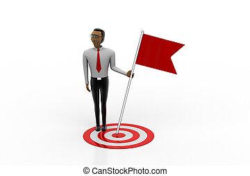 Man win the target