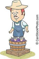 Man Wine Making