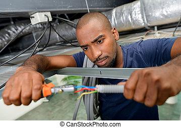 man wiring