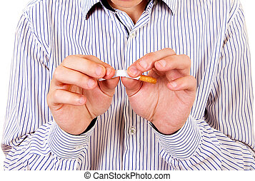 Man with a Broken Cigarette