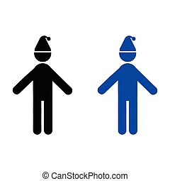 Man with a cap on his head icon