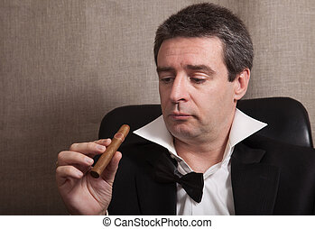 Man with a cigar