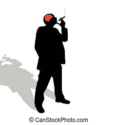 man with a cigar vector illustration