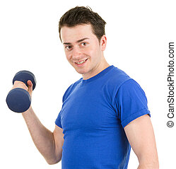 Man with a dumbell