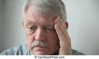 man with a headache