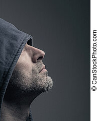 Man with a Hoodie