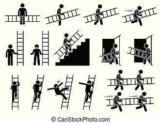 Man with a ladder.