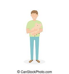 Man with a Little Pig in His Arms