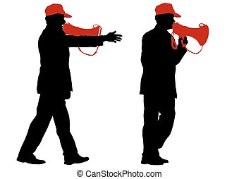 Man with a megaphone