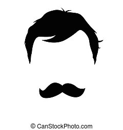 man with a mustache vector