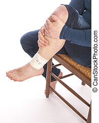 Man with a painful leg