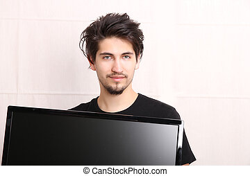 Man with a TV