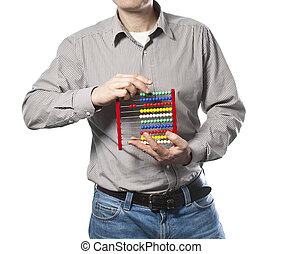 man with abacus in the hands