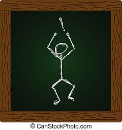 Man with an exclamation mark