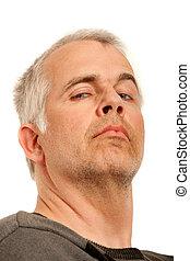 Man with arrogant expression - Unshaven man with arrogant ...