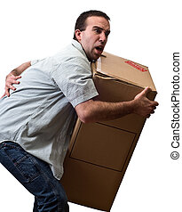 Man With Back Pain - A young man suffering from back pain ...