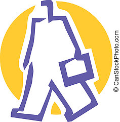 Man with bag icon