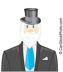 Man with beard in business suit