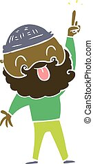 man with beard sticking out tongue