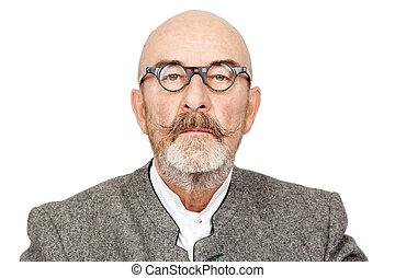 man with beard - An image of an old man with a beard