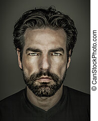 man with beard - An image of a handsome man with a beard