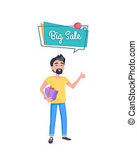 Man with Beard with Gift Box in Hands Holding Gift
