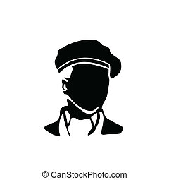 man with beret vector illustration