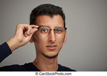 Man with big eyes