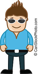 Man with Black Goggles Vector
