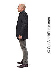 man with blazer on white background,