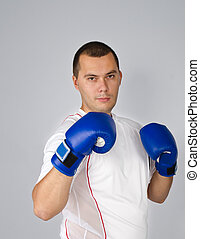 Man with boxing gloves